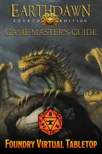 A cover image for the Earthdawn Fourth Edition Game Master's Guide